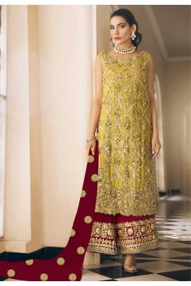 Georgette,Net Designer Salwar Suit.