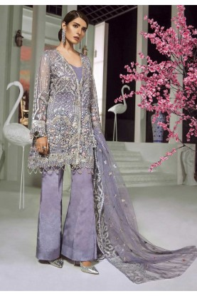 Purple Colour Party Wear Salwar Kameez.
