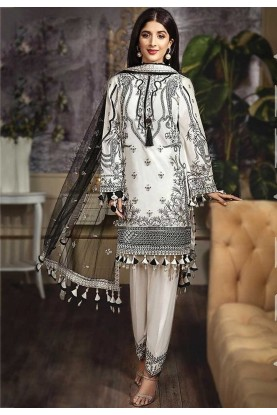 Off White Colour Women's Salwar Kameez.