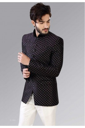 Black Color Indian Jodhpuri Suits for Mens