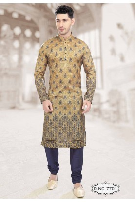 Buy designer kurta pajama in Beige,Blue Colour