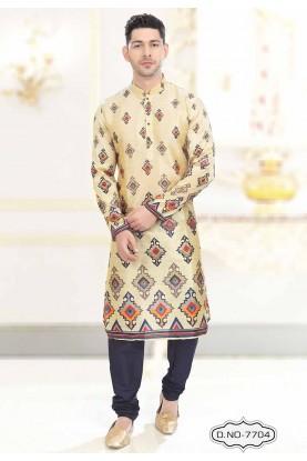 Beige Colour Traditional Kurta Pajama.