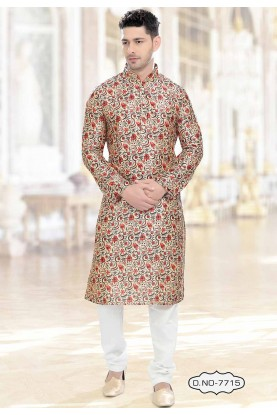 Beige Colour Indian kurta pajama for mens