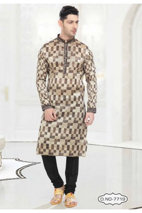 Brown Colour Indian kurta pajama for mens