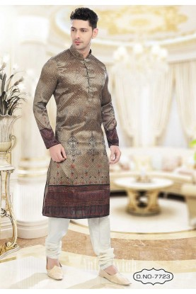 Buy designer kurta pajama in Brown Colour