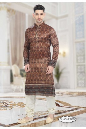Brown Colour Readymade Indian kurta pajama for mens