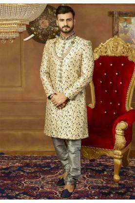Golden Color Men's Indowestern.