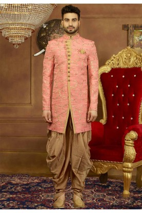 Pink Color Indowestern.