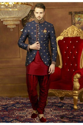Buy designer suits for men in blue color at best price