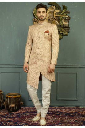 Peach Color Indo western dresses for men