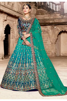 Green Color Lehenga Choli.