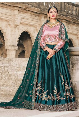 Green Color Lehenga.