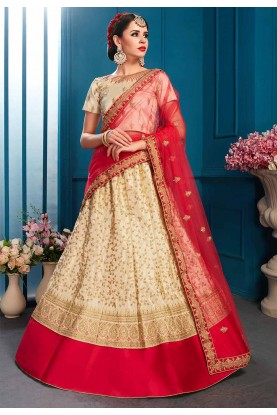 Beige Colour Indian Designer Lehenga.