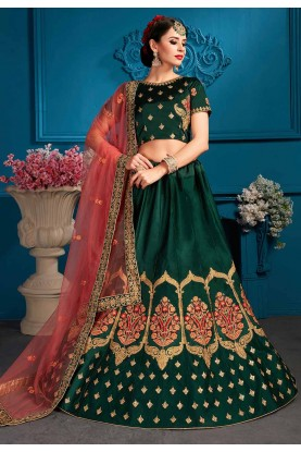 Green Colour Lehenga choli for bridesmaid