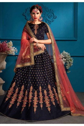 Blue Colour Lehenga choli for bridesmaid