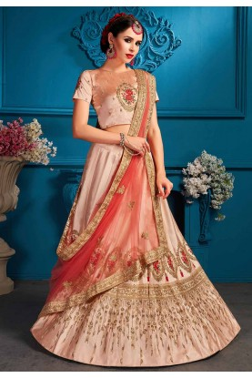 Peach Colour Lehenga choli for bridesmaid