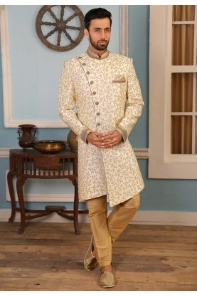 Cream Colour Indian Designer Indowestern.