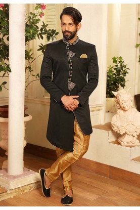 Black Colour Stylish Designer Indowestern.