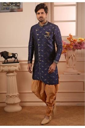 Blue Colour Wedding Kurta Pajama.