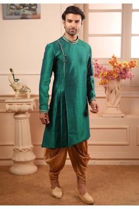 Green Colour Stylish Designer Kurta Pajama.