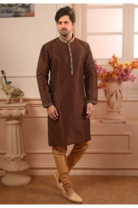 Brown Colour Men's Kurta Pajama.