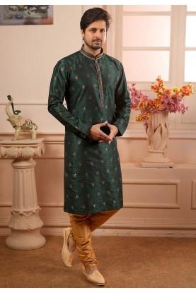 Green Colour Kurta Pajama.