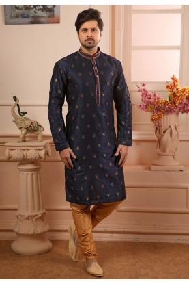 Readymade Kurta Pajama Blue Colour.