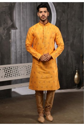 Yellow Colour Traditional Kurta Pajama.