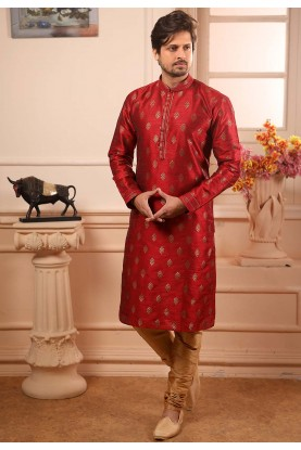 Designer Kurta Pajama Maroon Colour.