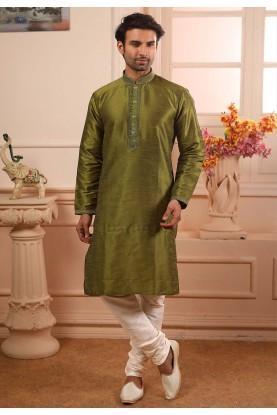 Green Colour Readymade Kurta Pajama.