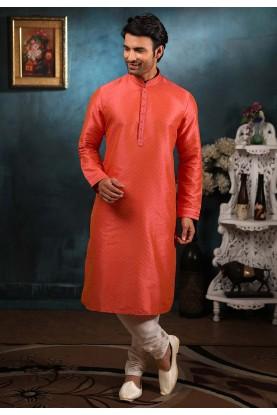 Pink,Red Colour Designer Kurta Pajama.