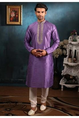Purple Colour Readymade Kurta Pajama.