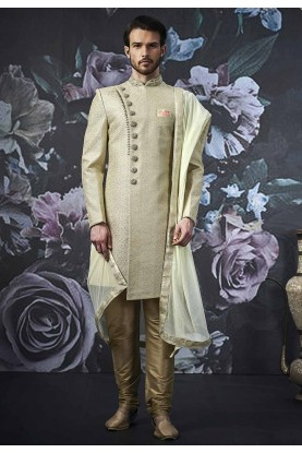 Pista Colour Men's Indo Sherwani.