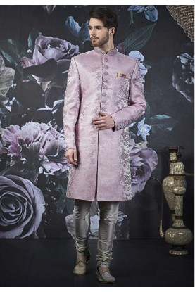Purple Colour Men's Indo Sherwani.