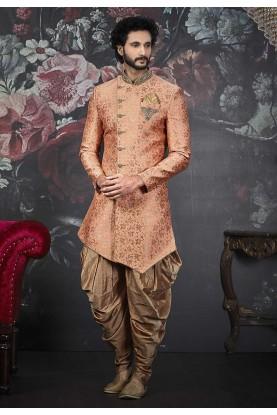 Orange Colour Men's Designer Indowestern.
