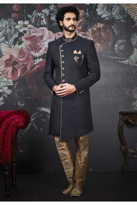 Blue Colour Men's Designer Indowestern.