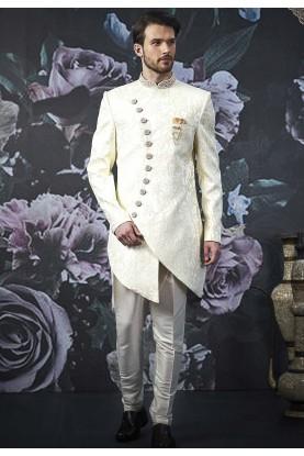 Cream Colour Stylish Designer Indowestern.