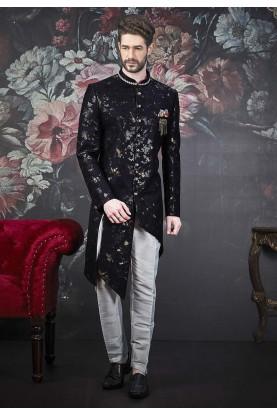 Black Colour Stylish Designer Indowestern.