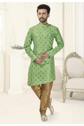 Green Colour Indian Kurta Pajama.