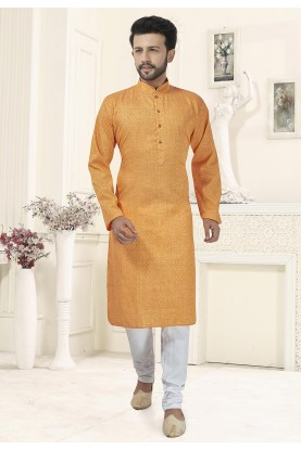 Traditional Kurta Pajama Orange Colour.