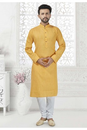 Yellow Colour Party Wear Kurta Pajama.