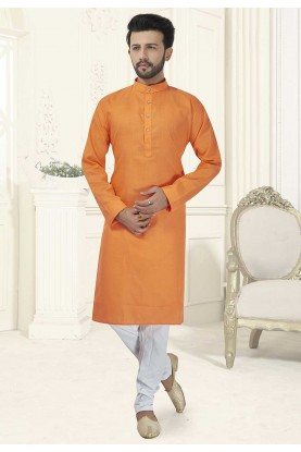 Orange Colour Readymade Kurta Pajama.