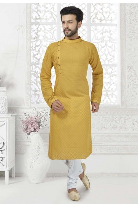 Yellow Colour Stylish Designer Kurta Pajama.