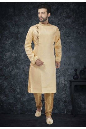 Beige Colour Indian Designer Kurta.