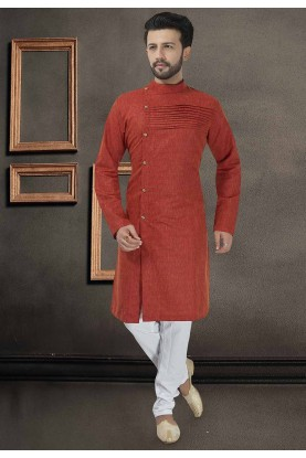 Designer Kurta Pajama Red Colour.