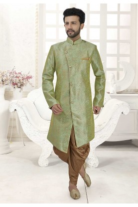 Green Colour Indian Designer Indowestern.