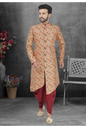 Beige Colour Designer Men's Indowestern.