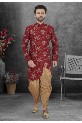 Red Colour Indian Wedding Indowestern.