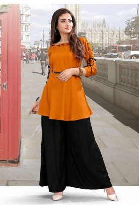 Orange Colour Party Wear Kurti.