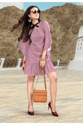 Pink Colour Designer Kurti